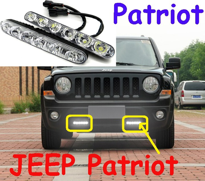 Patriot Led Daytime Running Light 2pcs Set Wire Of Harness 12w 12v Abs 6500k Super Good Quality Free Ship In Car Assembly From Automobiles