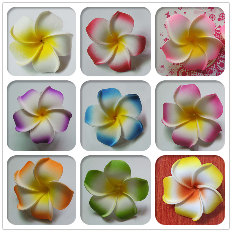 Great For Wedding Race Day Flowers 4.5cm Frangipani Flowers Hair Combs