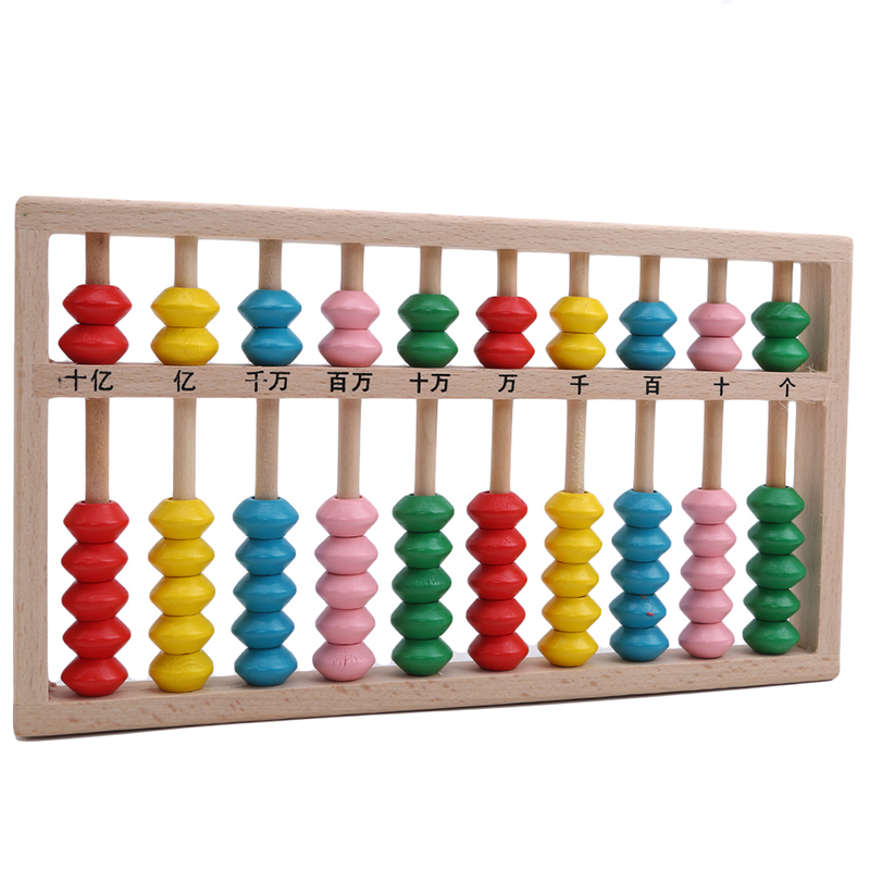 10 Digits Abacus Soroban Beads Column Kid School Learning Aids Tool Chinese Traditional Abacus Educational Toys