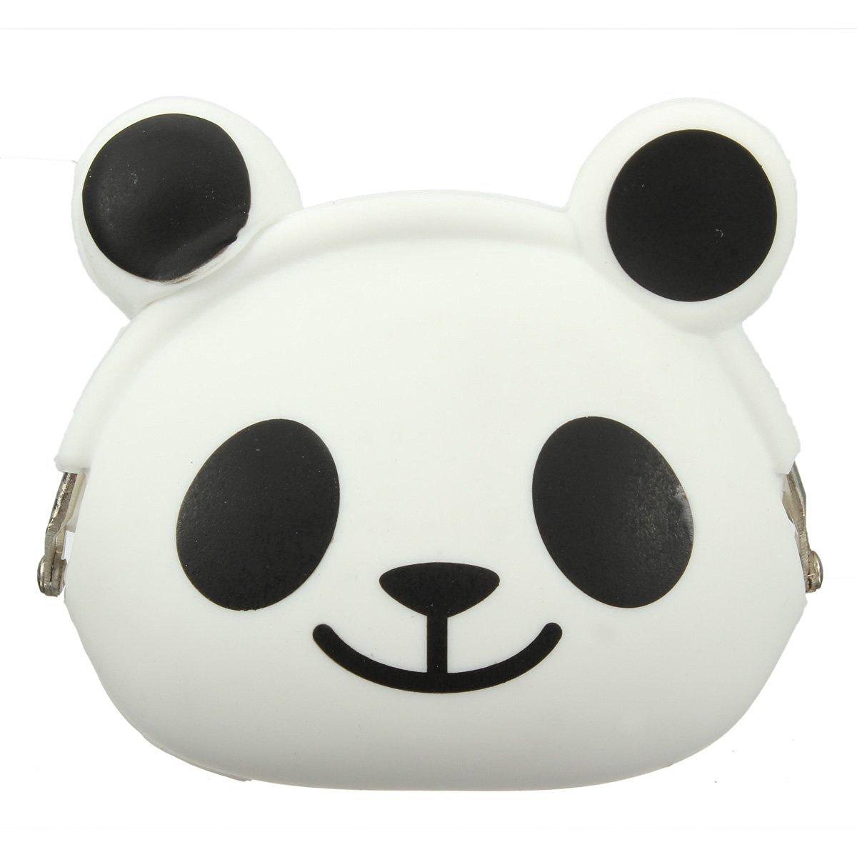 AFBC-Women Girls Wallet Kawaii Cute Cartoon Animal Silicone Jelly Coin Bag Purse Kids Gift Panda