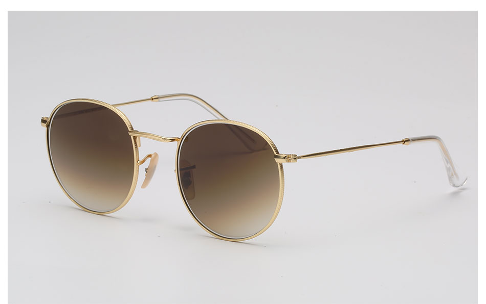 HTB1etuOc3MPMeJjy1Xdq6ysrXXae - Luxury Round Sunglasses Women Brand Designer 2018 Retro Sunglass Driving Sun Glasses For Women Men Female Sunglass Mirror 3447