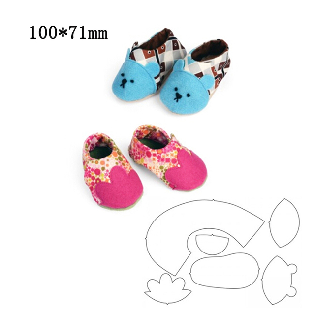 New Cutting Dies Baby Shoes Metal Knife Mold For Scrapbooking