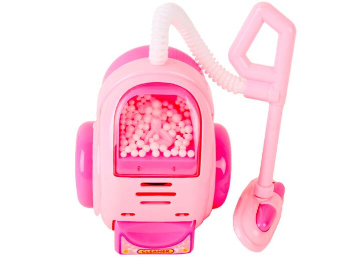 Mini Kids Toy Classic Toys Pretend Play Home Appliances Furniture Pink Dollhouse Toys--Miniature Electric Vacuum Cleaner