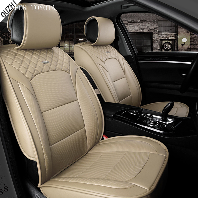 waterproof pu leather car seat covers for toyota corolla camry rav4 prius toyota avensis c-hr front rear full universal car universal pu leather car seat covers for toyota corolla camry rav4 auris prius yalis avensis suv auto accessories car sticks