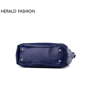 Image 5 - Herald Fashion Designer Women Handbag Female PU Leather Bags Handbags Ladies Portable Shoulder Bag Office Ladies Hobos Bag Totes