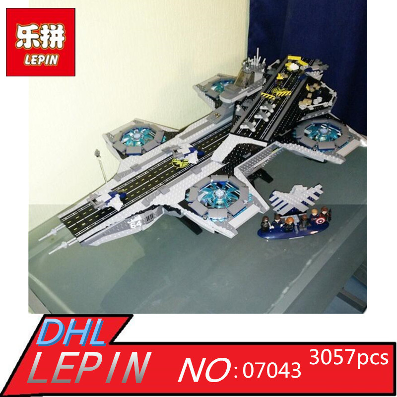 Lepin 07043 Super Heroes The Shield Helicarrier Model Building Kits Blocks Bricks Toys Compatible 76042 lepin 07043 3057pcs super heroes the shield helicarrier model building blocks bricks toys kits for children compatible 76042