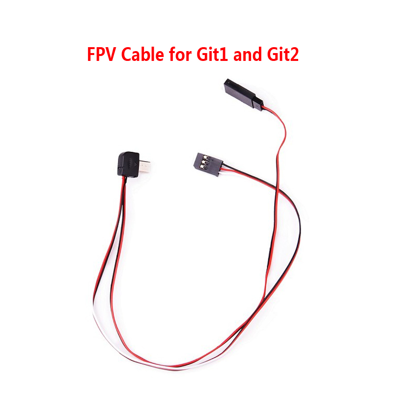 Livraison Gratuite!! FPV Câble pour Git1 et Git2 Sports de Plein Air Camera Action
