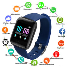 Smart Watch Men Women Blood Pressure Waterproof Heart Rate Monitor Fitness Tracker Watch Sports Digital Wristwatches Clock 2019(China)