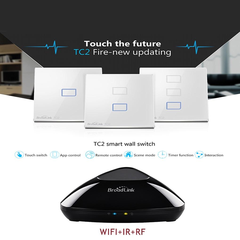 Broadlink RM Pro Smart Home Universal Switch WiFi Wireless IR RF Remote Control TC2 Light Wall Touch Switch by phone app