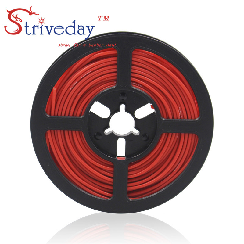10 metros (32.8ft) 20AWG resistência de alta temperatura fio de cobre estanhado fio de silicone Flexível RC cabo cabo de alimentação Eletrônico