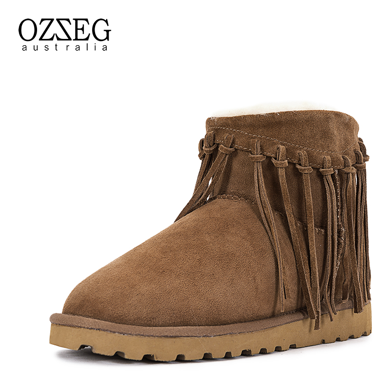 купить Fashion Women Boots 100% Real Fur Genuine Leather Snow Boots Classic Mujer Botas Winter Shoes for Women Warm Boots Top Quality по цене 7205.14 рублей
