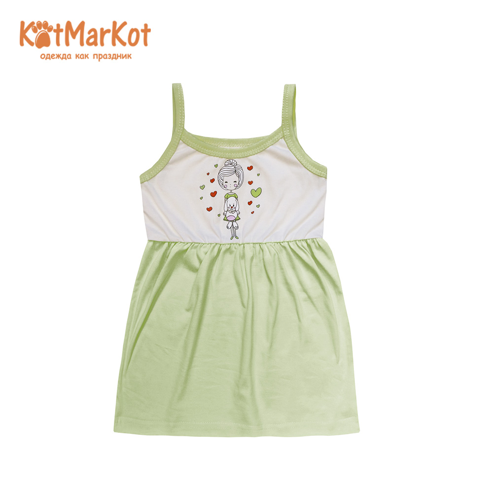 Фото - Dresses Kotmarkot 16857 shirt baby dress for a girl tunic summer  Cotton Casual plus lace insert floral tunic dress