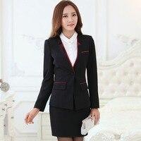 Elegante rock passt zweiteiler damen business anzug büro uniform designs stil blazer mit rock set für büro dame