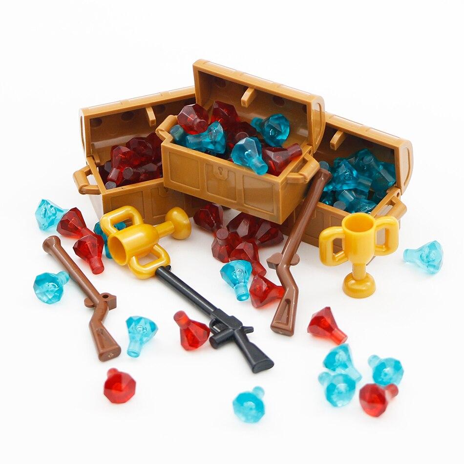 Legoed Accessories Parts Building Blocks Treasure Diamond Gem Stone Jewelry City MOC Bricks Toys Compatible LegoINGlys Friends
