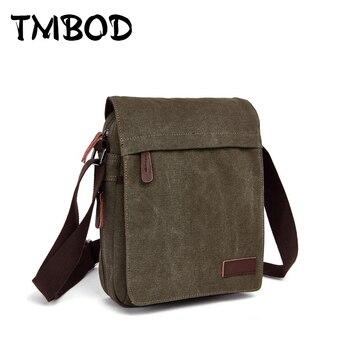 Новинка 2019, дизайнерская мужская холщовая сумка-мессенджер, высококачественные повседневные сумки, сумки-сэтчел через плечо, сумки на плеч... >> TMBOD Store