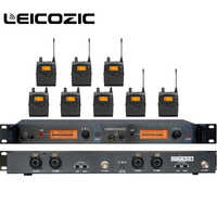 Leicozic SR2050 IEM Professional In-Ear Wireless Monitor System 1 Transmitter 8 Receivers twin monitor stage audio equipments