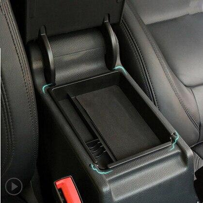 Voiture boîte de rangement accoudoir central broadhurst remodelée gants de voiture boîte de rangement pour Volkswagen VW Tiguan
