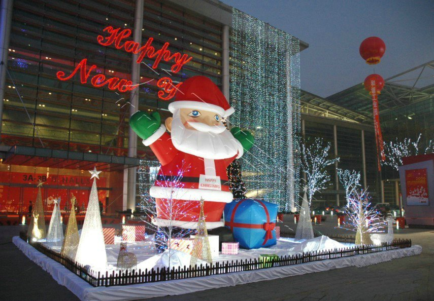 Hot Family Yard Art Christmas Decoration Lovely Inflatable Cartoon Outdoor Advertising Inflatable Christmas Decoration inflatable cartoon customized advertising giant christmas inflatable santa claus for christmas outdoor decoration
