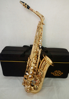 11 11Best Selling French Henri Selmer Paris Alto Saxophone 802 E Flat Electrophoresis Gold Saxe Top
