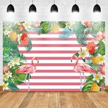 Mehofoto Flamingo Photo Background  Mothers Day Backdrop Floral Photography Birthday Stripes Vinyl
