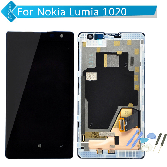 4.5 inch For Nokia Lumia 1020 LCD Display Touch Screen Digitizer LCD Assembly with Frame+Tools