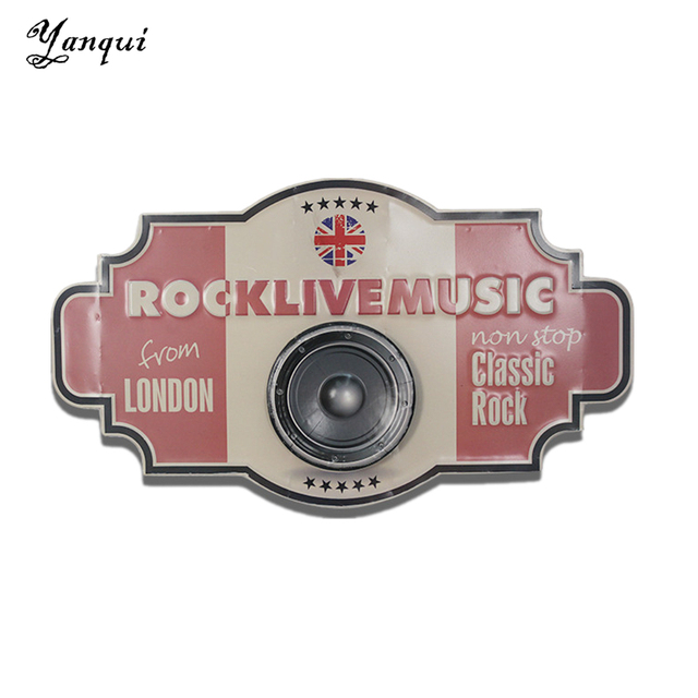 Classic Rock Live Music From London Metal Wall Plaque Retro ...
