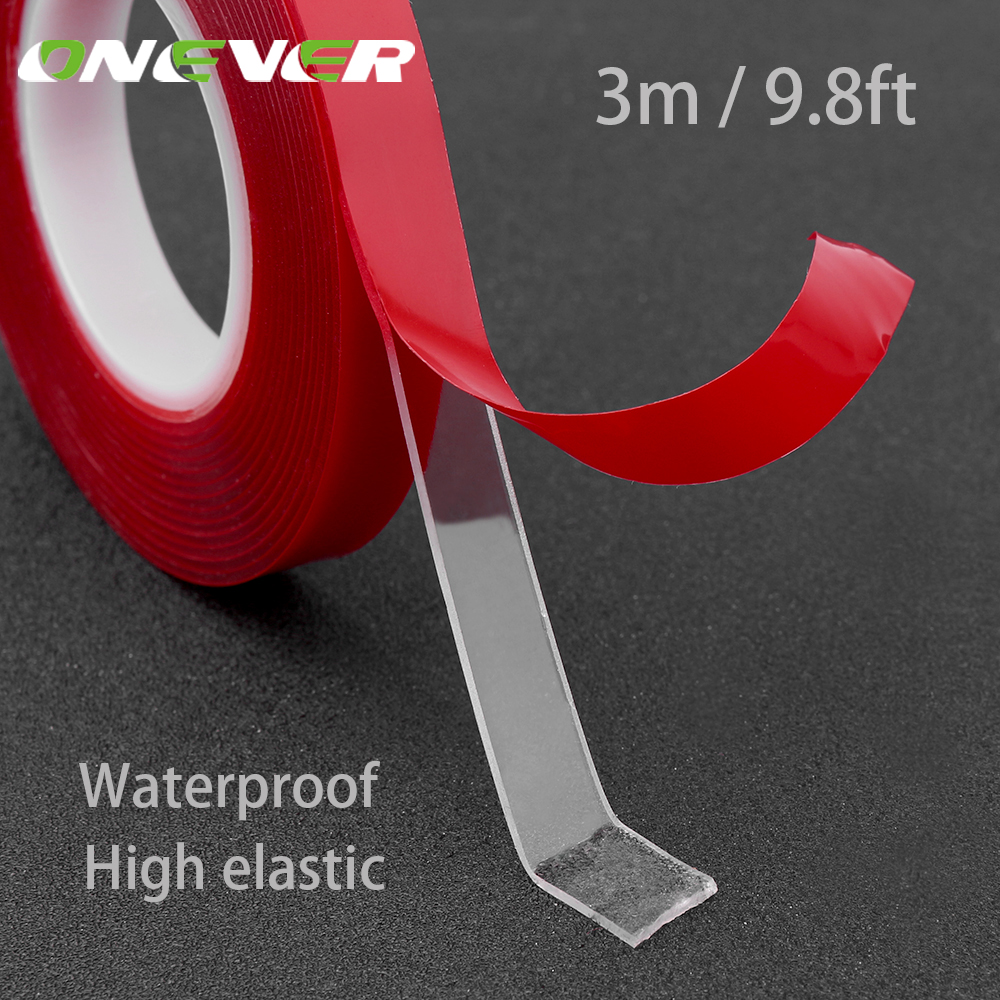 Onever 300cm Length Car Sticker Heat Resistant Acrylic Self Adhesive Foam Double-sided Adhesive Multi-functional Car Accessories