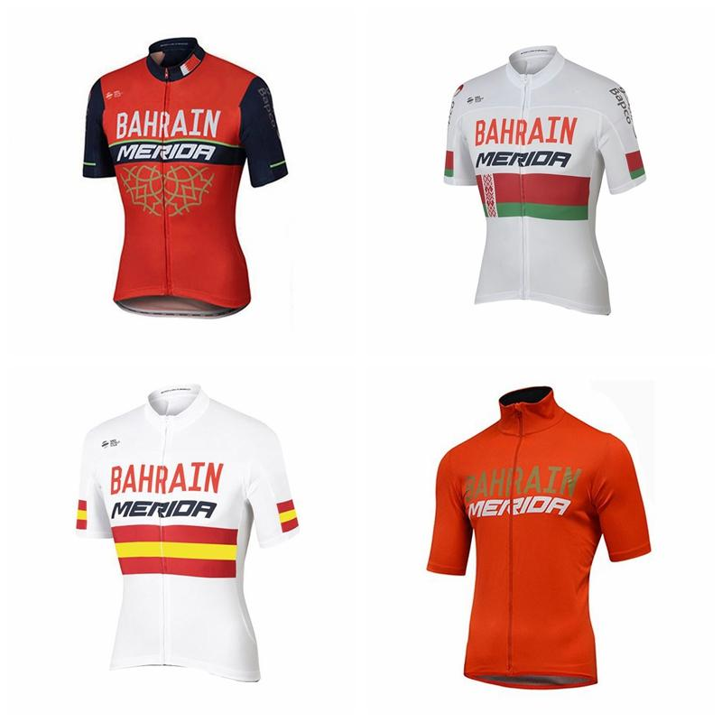 2019 Bahrain Cycling Jersey Short Sleeve Breathable Ropa Ciclismo Mountain Bike  Shirts Bicycle Clothes Wears K122701-in Cycling Jerseys from Sports ... 66904bc27