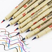1 шт., кисть Sakura, ручка, мягкая ручка-кисть для каллиграфии, водостойкий, гладкие чернила, Caneta, кисть, маркер, ручки, кисть, ручка для рисования