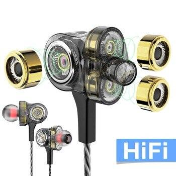 Проводные наушники 6 блок привод динамические наушники HiFi глубокий бас стерео наушники-вкладыши микрофоны шумоизоляция гарнитура для теле...