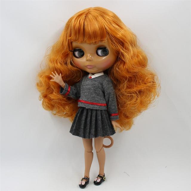 TBL Neo Blythe lutka kovrčavo narančasto tijelo spojenog tijela