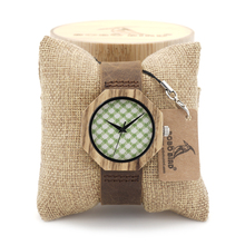 Newest Brand Designer Octagon Zebra Wooden Watches Soft Leather Band Cloth Dail Face Japan 2035 Movement Quartz Watch for Women