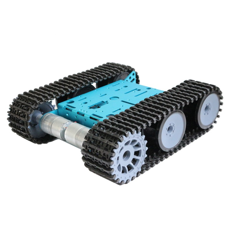 2018 Smart Tank Robot Chassis Robot Tracked Car Platform with Motors For Arduino Raspberry PI DIY Robot Toy cheap robot tank chassis platform diy chassis smart track huanqi for arduino sinoning sn700