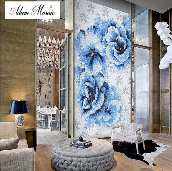 Art Deco Tile Mural Of Online Shopping For Electronics Fashion