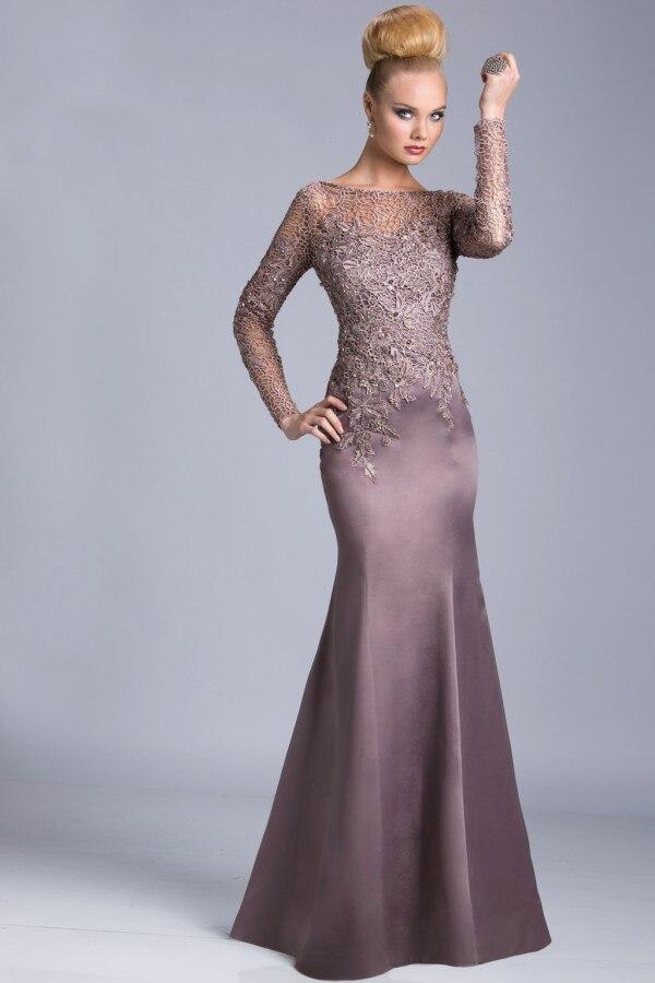 Popular Long Sleeve Mother Bride Dresses-Buy Cheap Long Sleeve ...