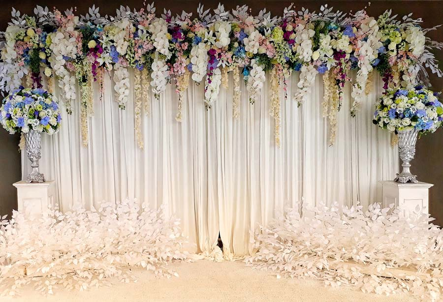 Flowers Photo Background Vinyl And Polyester Photography Backdrops Computer Printed Backdrops