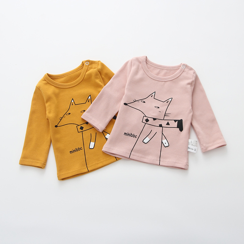 2017 Toddler Kids Baby Boys Girls Infant spring Autumn Long Sleeve cartoon Fox T-Shirt Tops Clothing Cotton cloud rain T-Shirts (4)