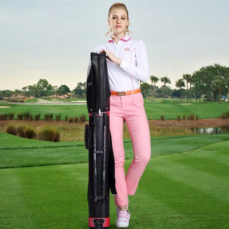 العلامة التجارية PGM جولف ستاندرد حقيبة مع السفر عجلات الوقوف ترايبود حقيبة غولف العلبة حقيبة العربة مجموعة الجولف القياسية رف حقيبة