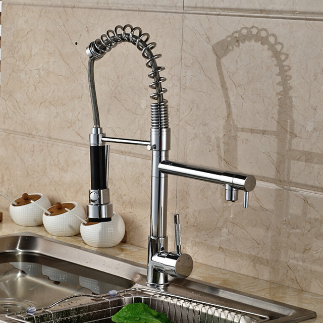 Online Shop Spring Pull Down Kitchen Mixer Faucet Deck Mounted ...