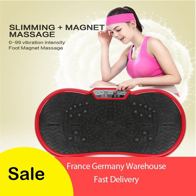 Grasso di Vibrazione Brucia Piastra di Fitness Massaggiatore Perdita di Peso di Vibrazione di Potere Dispositivo di Snellimento Normative Europee Con Il Regalo HWC