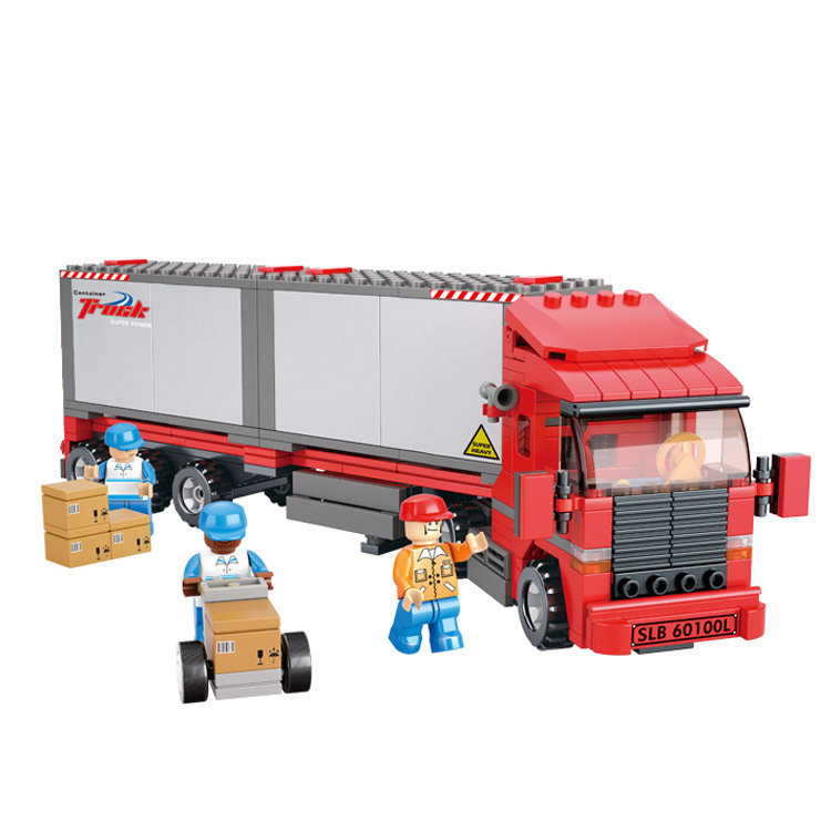 Models building toy 0338 traffic container truckr 345Pcs Building Blocks   city toys & hobbies