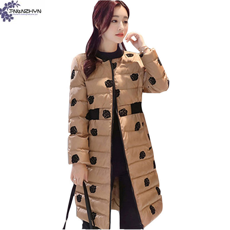 TNLNZHYN winter NEW Women clothing warm Cotton coat high end fashion Long  sleeve loose large size Thicken Cotton Outerwear QQ388-in Parkas from  Women s ... 727bddd2c