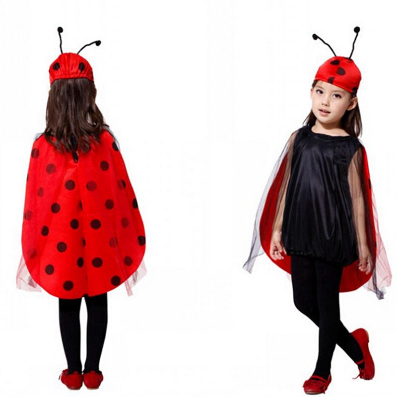 cosplay moda disfraces de halloween los nios trajes mariquita seora escarabajo ropa de los nios ropa