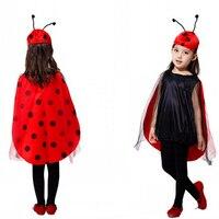 Cosplay Trendy Halloween Costumes Children Ladybug Costumes Lady Beetle Clothing Children Show Clothing