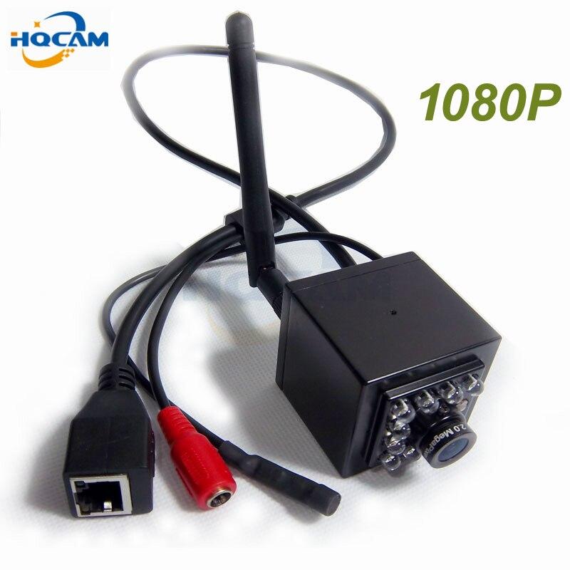 HQCAM 1080 P Night Vision Audio mini wifi caméra ip Mini IR caméra Intérieure 10 pcs 940nm Led Sans Fil WIFI Plus Petite Caméra Ip P2P
