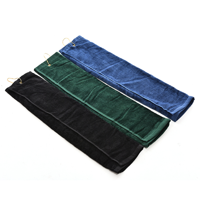 40*60cm Golf Towel Cotton Comfortable Sport Hand Towel With Mental Hook Quick Dry Towels