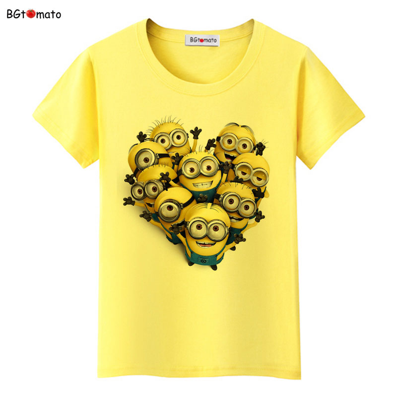 BGtomato A Lot Of Minions T Shirt Harajuku T Shirt Women Casual Tops Women Clothes 2019 Funny Streetwear Star Minions Tshirt