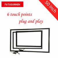 50 inch IR touchscreen frame overlay kit 6 touch punten overlay touch frame zonder glas