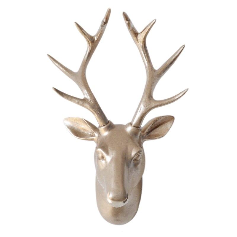 Européenne Animal Deer Head Éléphant Pendaison Stéréo Creative Salon Maison Murale Fond Pour Décoration Métier De Résine