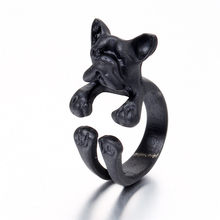 OTOKY Jewelry French Bulldog Dog Animal Wrap Rings Adjustable Finger Ring Dropshippng AP25(China)